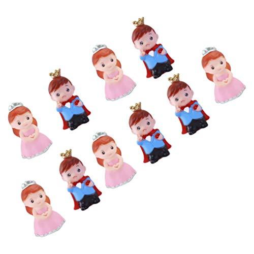 Amosfun 10 Stück Prinzessin Puppe Figuren Prinzessin Hochzeitstorte Topper Kreative Königliche Torte Topper für Hochzeit Geburtstagstorte Dekoration
