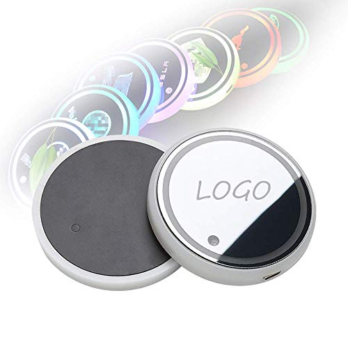 \t Car Coasters For Cup Holders, Led Lights Drink Holder Mats, Usb Charging Light And Vibration Sensor Car Cup Holder Pad For Infiniti, Car Logo 7 Colours