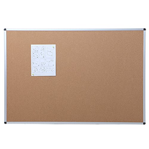 VIZ-PRO Pinnwand / Korktafel - mit Alurahmen - 90 x 60cm - für Wohnung und Büro