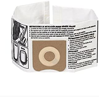 RIDGID 23738 VF3501 Wet Dry Vac High-Efficiency Dust Bags, Wet Dry Vacuum Filter Bags, Two Dust Collection Bags per Package
