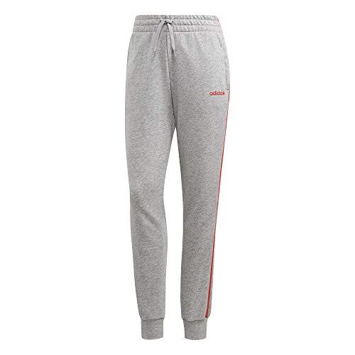 adidas Damen W E 3S Pant Sport Trousers, medium Grey Heather/Core pink, S