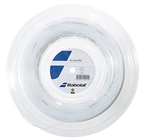Babolat SG Spiraltek 200M Cordaje de Tenis, Unisex Adulto, Blanco-(Blanco), 130