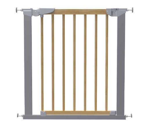 BabyDan Avantgarde True Pressure Fit Safety Gate (Beech/Silver)