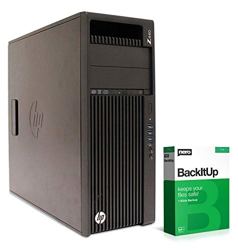 HP Workstation Z440 MT | Xeon E5-1620 v3 @ 3,5 GHz | 32 GB de RAM | 250 GB SSD | DVD-RW | Nvidia Quadro K2200 | Windows 10 Pro (certificado y reacondicionado)