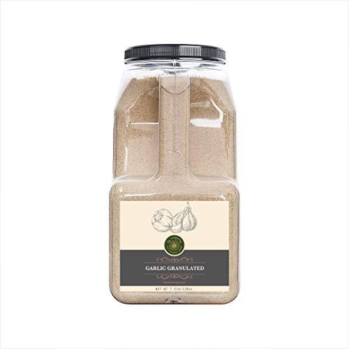 US-FARMERS Natural Premium Quality Granulated Garlic in Jar, 7.5 Lbs