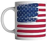 vanVerden Tasse - USA Vereinigte Staaten von Amerika Flagge - beidseitig Bedruckt - Kaffeetassen, Tassenfarbe:Weiß