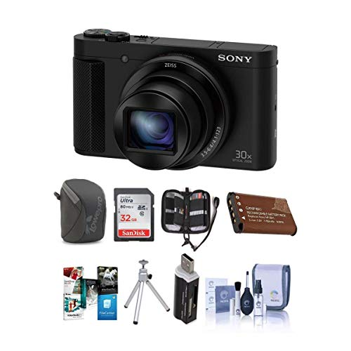 Sony DSC-HX80 Digital Camera, Black - Bundle with...