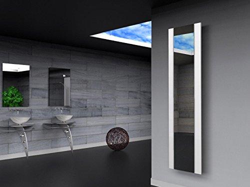 Badheizkörper Design Singapur 3, HxB: 180 x 47 cm, 1118 Watt, weiß/Spiegel (Marke: Szagato) Made in Germany/Bad und Wohnraum-Heizkörper (Mittelanschluss Spiegelglas, Echtglas)