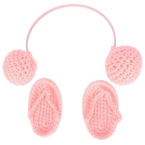Haarverzorgingsproducten Wolmateriaal voor babyfotografiedecoratie(Pink, Newborn)