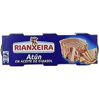 Rianxeira, Conserva de atún en aceite de girasol - 18 latas de 80 gr. (Total: 1440 gr.)