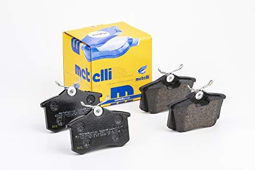 metelligroup 22-0100-1 Pastiglie Freno posteriori, Made in Italy, Pezzo di Ricambio per Auto / Automobile, Kit da 4 Pezzi, Certificate ECE R90, Prive di Rame