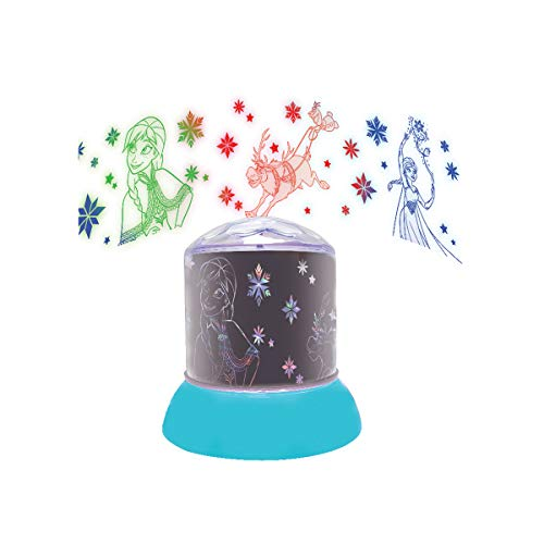 Lexibook NLJ030FZ Disney, Nachtlicht, leuchtende Projektionen an der Decke, Frozen-Ikonen, Kinderzimmerlampe, Dekoratives Farblicht