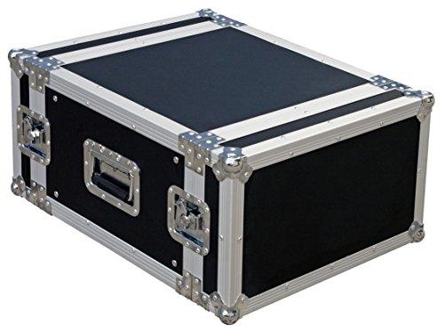JV Case Rackcase 6U Professionelles 19 Zoll Flightcase (6HE) stabiler 9mm Sperrholz Konstruktion und 2-Abnehmbare Deckel