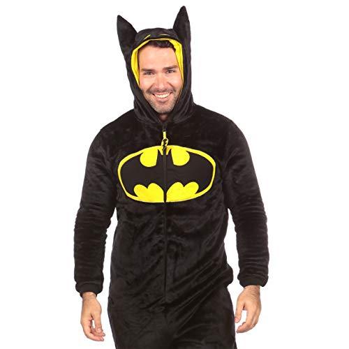 DC Comics Pijama Entera para Hombre Batman Negro Size Medium