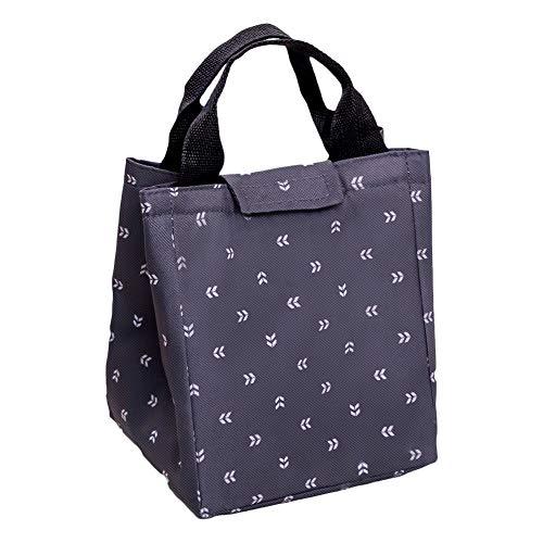 Vi.yo. Lunch Bag Lunch Bag Boîte à Lunch isolée Étanche pour l'école et Le Travail 23 * 19 * 17cm Noir