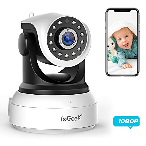 ieGeek 1080P IP Camera WiFi Home Security Surveillance Indoor CCTV Camera with HD Night Vision/Two-way Audio/Motion Detection Pan/Tilt, Smart Internal Wireless Camera for Baby/Elder/Pet Monitor