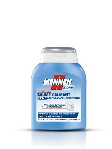 MENNEN - Baume Calmant 2 en 1 Homme après-Rasage + Soin Visage pour Peaux Réactives - 100 ml