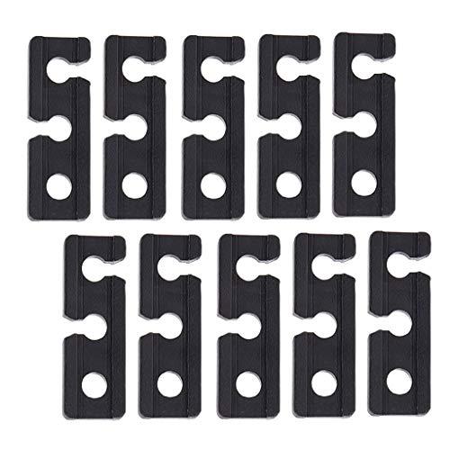 10pcs Nylon Leinenspanner Zeltleinenspanner Zelt Spanner Seil Dreilochspanner Zeltschnur Spanner, 1,1 x 0,6 x 3,3 cm