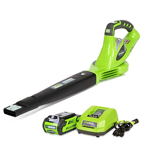 Greenworks 40V 150 MPH Variable Speed Cordless Blower, 2.0 AH Battery Included 24252 (Renewed)