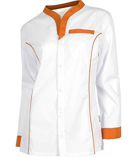 Pijama sanitario de mujer. Pijama sanitario naranja de manga larga y entallado.
