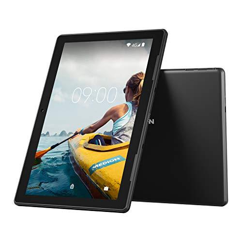 MEDION E10703 25,5 cm (10 Zoll) Full HD Tablet-PC (Mediatek MT8766A Quad Core, 3GB RAM, 64GB Speicher, LTE, WLAN, Bluetooh, Kamera, GPS, Android 9)