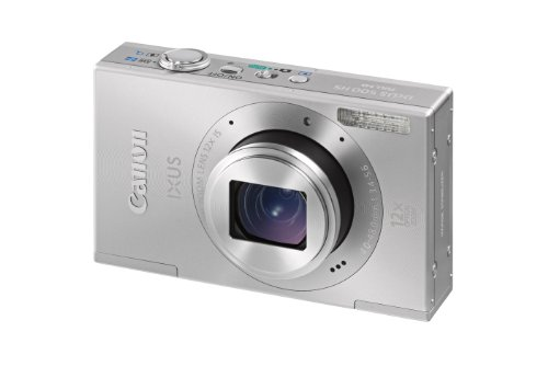 Canon IXUS 500 HS Digitalkamera (10 MP, 12-fach opt. Zoom, 7,5cm (3 Zoll) Bildschirm, Full HD, bildstabilisiert) silber