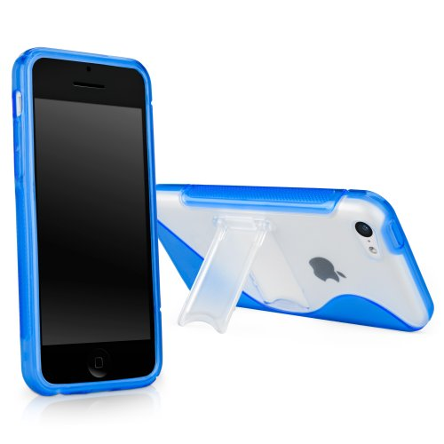 bq iphone 5c covers Case for iPhone 5c (Case by BoxWave) - ColorSplash Case with Stand, Durable TPU Case w/Stand for iPhone 5c, Apple iPhone 5c - Super Blue