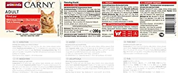 Nourriture pour chat GranCarno Adult d'animonda, nourriture humide pour chat adulte, bœuf, 6 x 200g