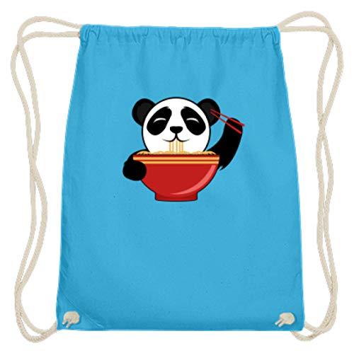 Süßer Panda-Bär Isst Chinesische Nudeln mit Stäbchen. Ist der Kleine nicht zum Knuddeln? - Baumwoll Gymsac