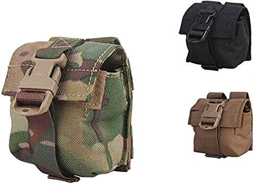 Elite Tribe Airsoft Hunting Tactical LBT Style Molle Single Frag Grenade Pouch (Multicam)