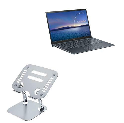 Suporte e suporte BoxWave para ASUS ZenBook 14 UM425UG [Executive VersaView Laptop Stand] Suporte ergonômico metálico ajustável para laptop ASUS ZenBook 14 UM425UG - Prata metálica