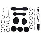 Kit de accesorios para el peinado del cabello: 65 piezas Accesorios de peinado para el cabello mágico para mujer de moda Kit de herramientas para trenzas Bun Maker DIY Kit de herramientas para el pein