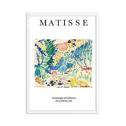 Pintura abstracta de Henry Matisse, carteles e impresiones vintage, pez dorado, arte de pared, museo, cuadro, lienzo sin marco, pintura D 60x90cm