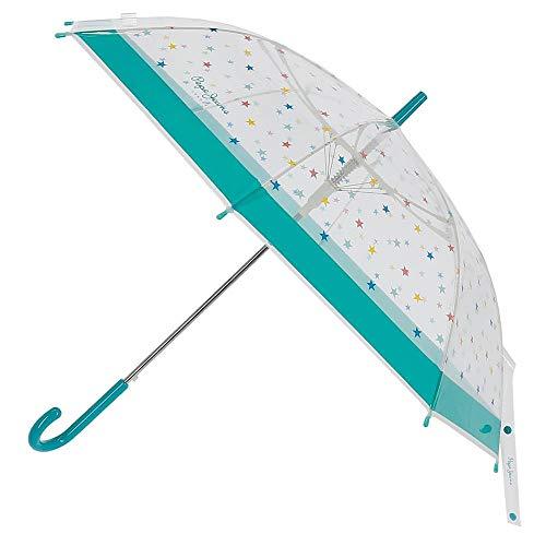 Paraguas Pepe Jeans Anaïs Bastón Pequeño Automático Verde