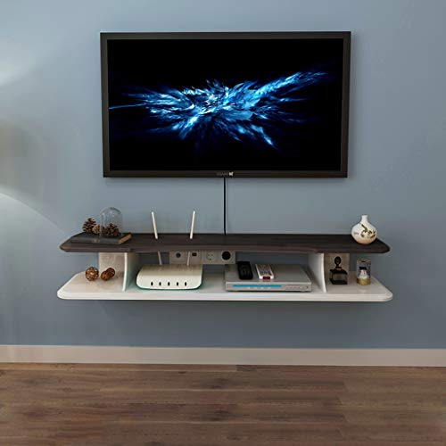 Wandplank Zwevende plank Wandmontage TV Kast Speelgoed Foto Collectibles Game Machine Multifunctionele Display Plank TV Stand Multimedia Opslag Plank, 100CM, Walnut color