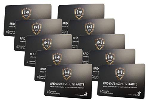 10 blocchi RFID per carte di credito NFC