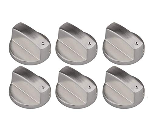 Liuer 6 Stücke Metall Universal Silber Gas Herd Steuer Gasherd Knöpfe Adapter Ofen Schalter Kochen Fläche Steuer Sperren(Durchmesser: 8mm / 0,3inch)
