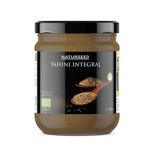 Naturseed - Tahini Bio Pâte de Sésame, Bio - Brut, Sans Sel - Houmous - Sésame Biologique Intégral avec couenne grillée (500gr)