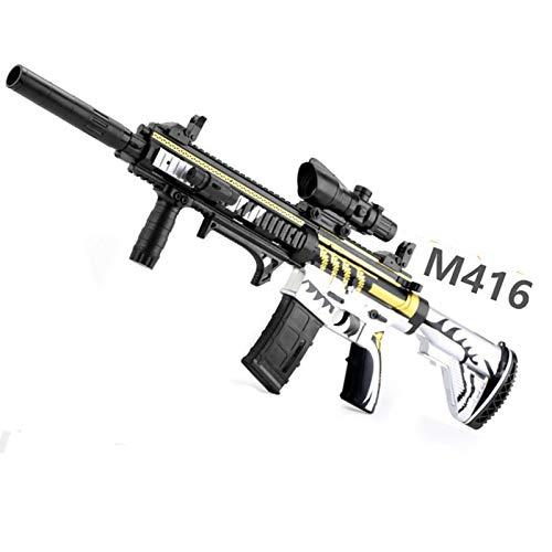 AFF M416 Pistola de Balas de Agua Juguetes al Aire Libre para niños Rifle de plástico Juegos de Paintball Suave Pistolas de Juguete para niños al Aire Libre,Blanco