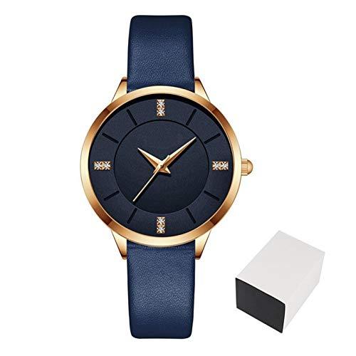 JCCOZ-URG Reloj de Pulsera de Cuarzo de la Nueva Marca de fábrica Superior de Lujo Reloj de Las Mujeres de Las señoras de Prueba de Agua Ultra-Delgado de Piel Casual Reloj Relojes URG