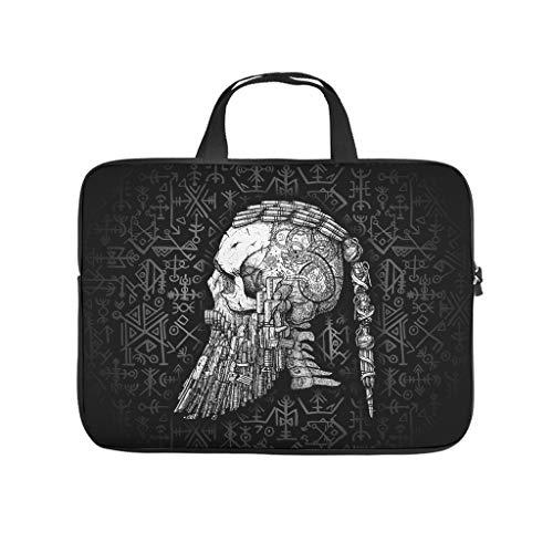 Vikings Laptop Case Bag Waterproof High Capacity Zipper Basics 10-17 Zoll for Men Women White 15 Zoll