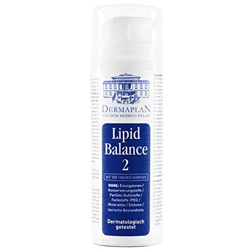 DERMAPLAN - Lipid Balance 2 - Creme für trockene Haut z.B. bei Neurodermitis oder Schuppenflechte 150ml- für Gesicht und Körper - mit Vitamin E und Betaglucan - Made in Germany - 100% vegan
