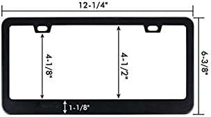 Chrome License Plate Frame I May Be Slow But I/'m Ahead Of You Auto Accessory