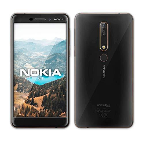 Nokia 6.1 Smartphone (13,97 cm (5,5 Zoll) FHD IPS Display, 32 GB interner Speicher und 3 GB RAM, Single-SIM, Android 8.0 (Oreo), Schwarz/kupfer