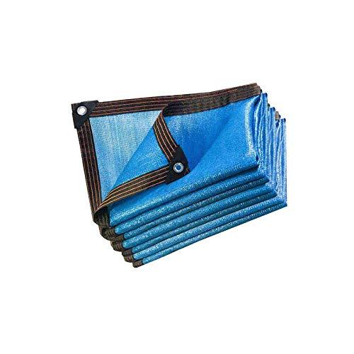 Patio Vela Parasol Sin Agua con Cuerda A Prueba De Viento Protección Solar Manténgase Fresco Hdpe Azul Patio Trasero Cuadrado Barbacoa Patios Traseros Actividades Jardín Piscina Patio Sombrilla