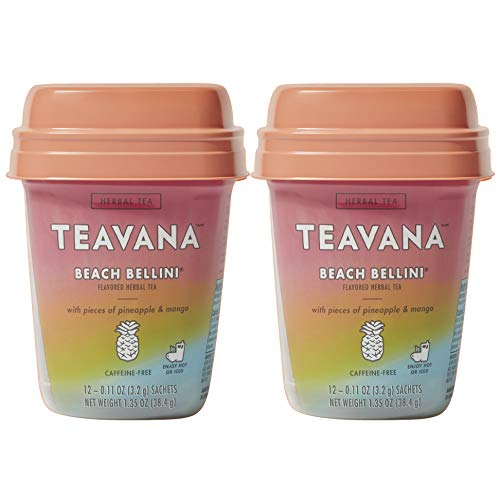 Teavana Herbal Tea, 12 Sachets (Beach Bellini, Pack - 2)
