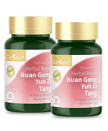 Nuan Gong Yun Zi Tang by Ginsen (60 Capsules) Irregular Menstrual Cycle Female Fertility, Warms The Uterus