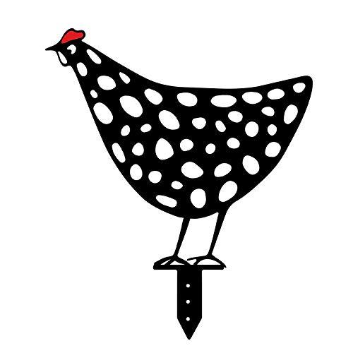 Rost Gartenstecker Huhn, Gartenstecker Dekoration Gartendeko Rostoptik lebensechte Henne Huhn Hof Kunst Dekoration Garten Polnische GartenkunstGarten Ornamente (Size4)