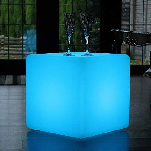 Paddia Wärme, Romantik Outdoor LED Würfel Hocker Stehlampe Wasserdicht IP68 USB Lade Modern...