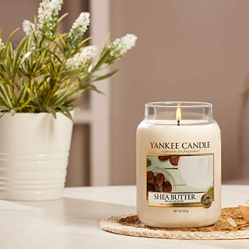 Yankee Candle Candela profumata in giara grande | Burro di karitè | Durata Fino a 150 Ore